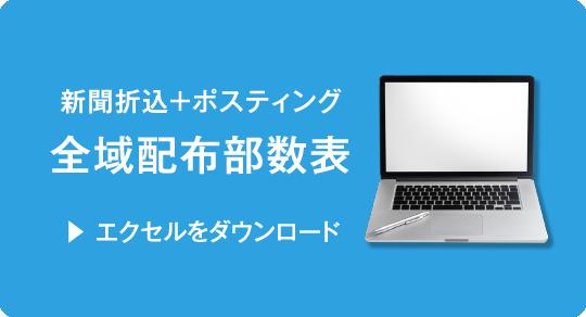 【新聞折込+ポスティング】全域配布部数表(Excel)